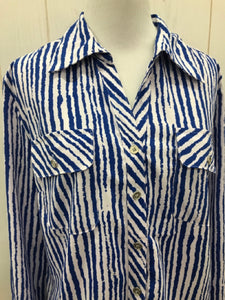 Notations Blue Womens Size M Shirt