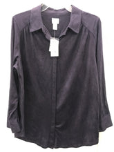 Load image into Gallery viewer, Chico's Purple Brushed Shirt NEW - Womens Sz Large