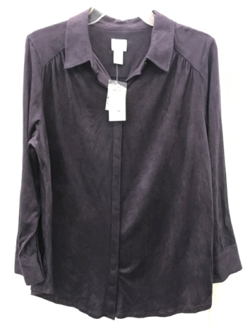 Chico's Purple Brushed Shirt NEW - Womens Sz Large