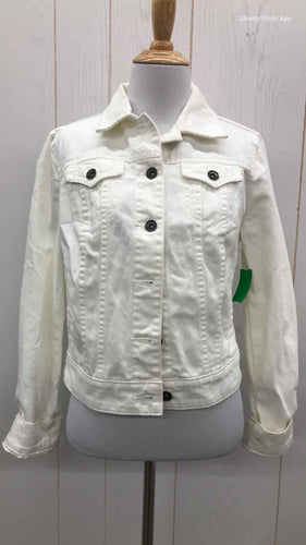 JCP White Womens Size 4/6 Jacket (Outdoor)