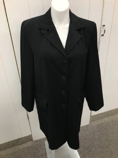 Gallery Black Womens Size XL Coat