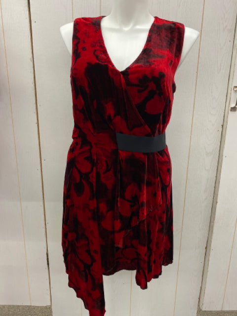Chelsea28 Red Women Size 14 Dress