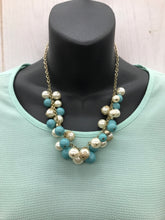 Load image into Gallery viewer, Blue & Pearl Necklace