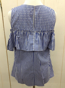 London Times Blue Womens Blouse- NEW Medium