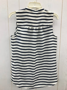 J Crew Blue Stripe Blouse Womens XS