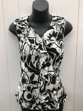 Load image into Gallery viewer, Cynthia Rowley Black Womens Wrap Top - Sz Small
