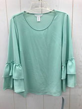 Load image into Gallery viewer, London Times Green Misses Women Size M Blouse