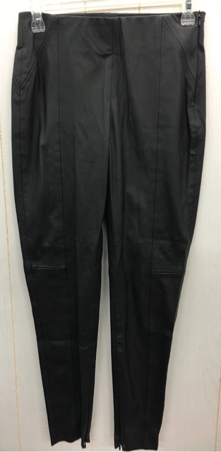 ZARA Black Faux Leather Womens Pants Small