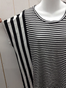 Michael KORS Black Stripe Womens Shirt - XS