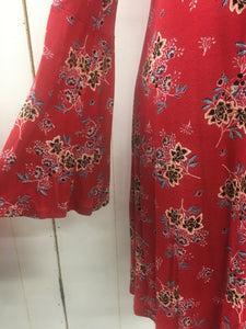 Bell Sleeve Floral Dress Sz Large (9/10)