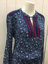 Load image into Gallery viewer, GAP Dress Blue Print Medium NEW