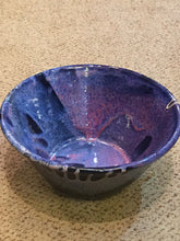 Load image into Gallery viewer, Glazed Purple Swirl Pottery Bowl