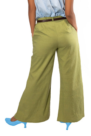 Merlin Green Flared Pants