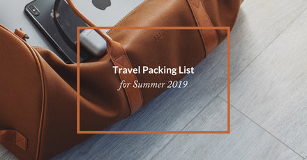 2019 Travel Packing List for Summer Holidays