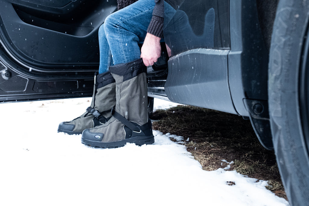 insulated overshoes or gaiters for the winter