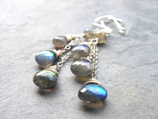 labradorite earrings sterling silver aerides