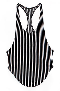 Black And White Stripe Tank Top