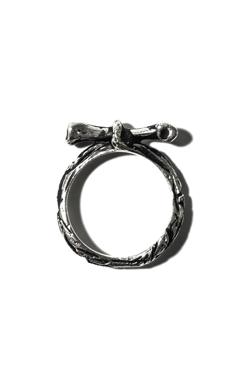 handmade sterling silver bone ring