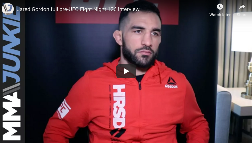 Jared Gordon full pre-UFC Fight Night 126 interview