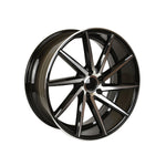 Load image into Gallery viewer, Swirl Style Wheels Black Machined Face