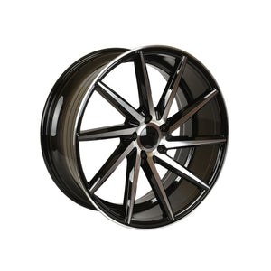 Swirl Style Wheels Black Machined Face