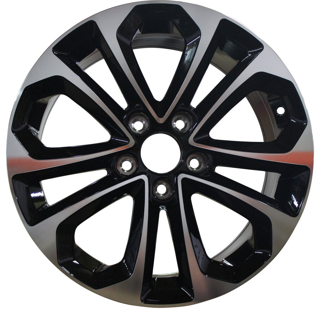 2013 Honda Accord Sport Wheels Black Machined Face