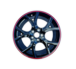 Load image into Gallery viewer, Honda Civic Type R Wheels Black Red Lip