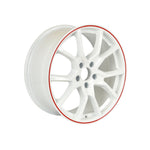 Load image into Gallery viewer, Honda Civic Type R Wheels White Red Lip