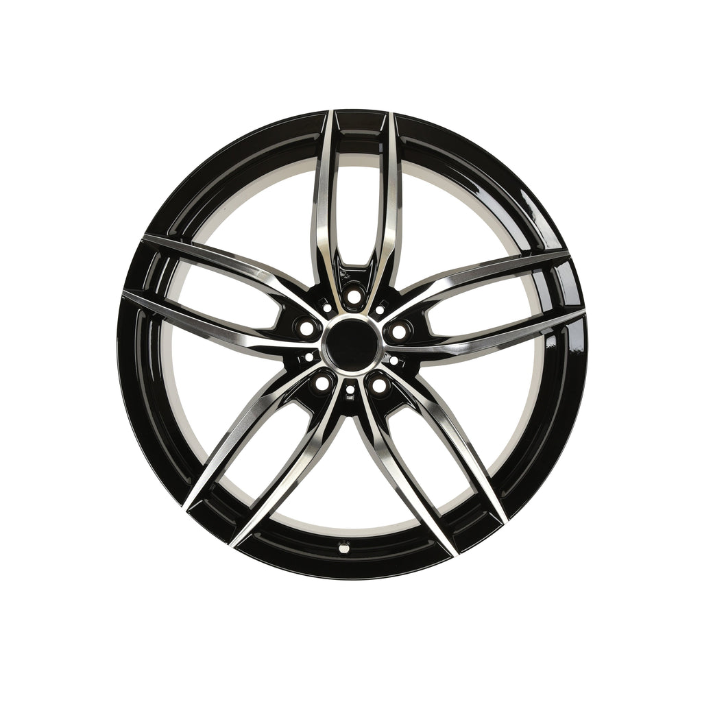 Voss Style Wheels Black Machined Face