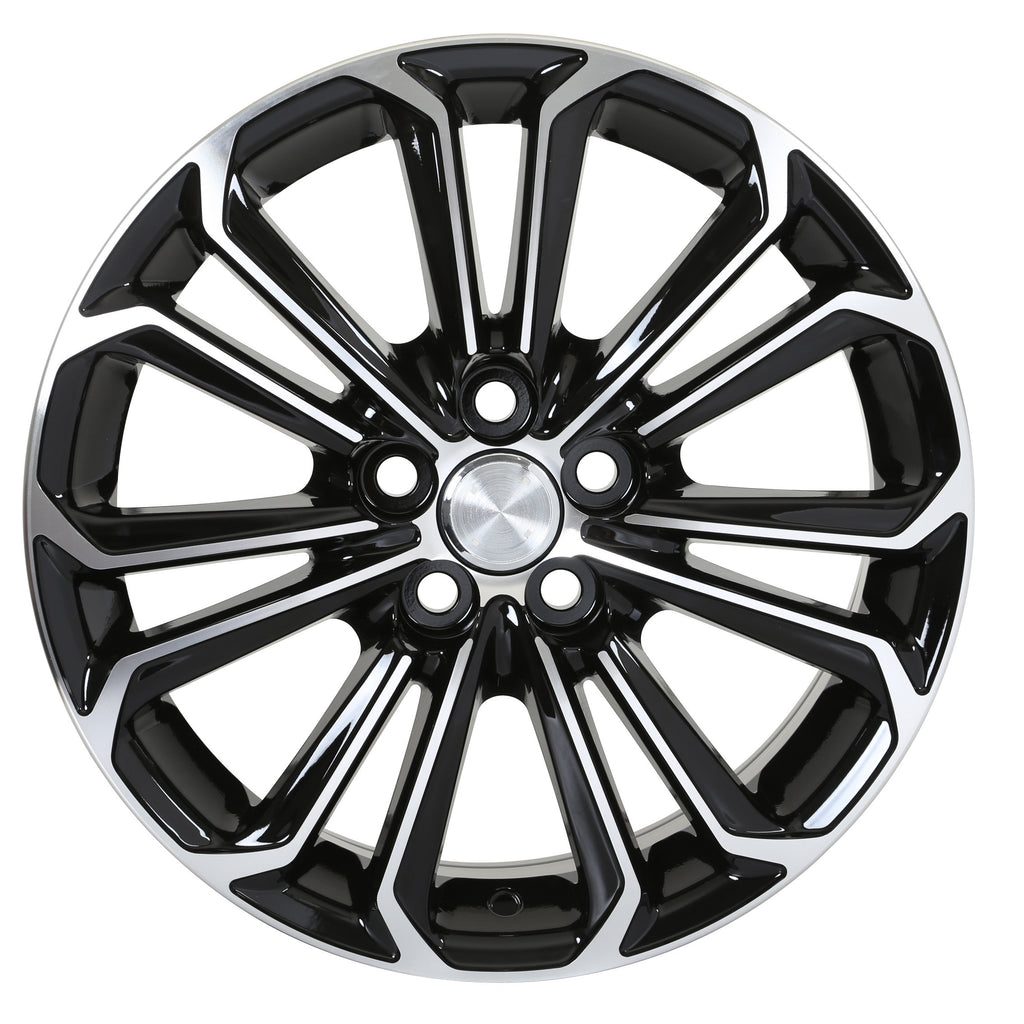 Toyota Corolla Sport Wheels Black Machined Face
