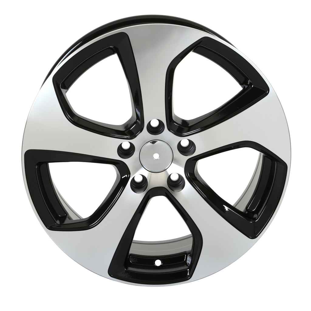 Volkswagen GTI Austin Wheels Black Machined Face
