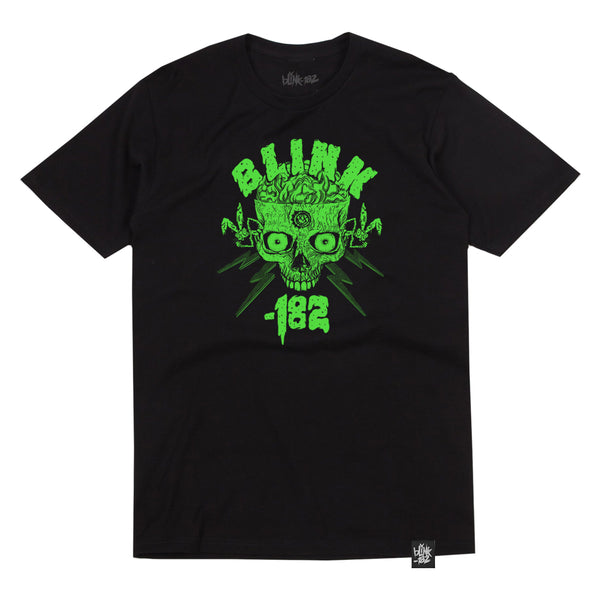Halloween Green Skull 2020 Black Tee
