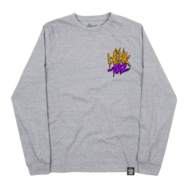 SLIME SMILEY HEATHER GREY LONGSLEEVE