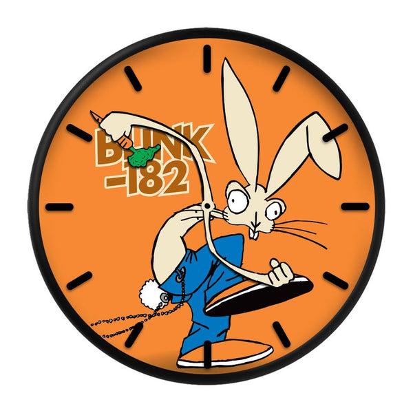 SKANKIN RABBIT ORANGE WALL CLOCK
