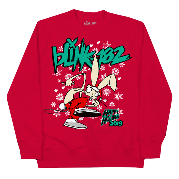 HOLIDAY BUNNY RED CREWNECK