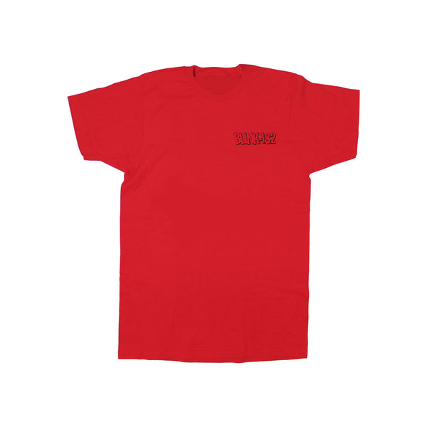 CARTOON STACKED RED TEE