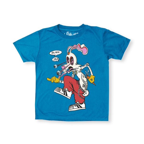 Kid's Skankin Rabbit Blue Tee