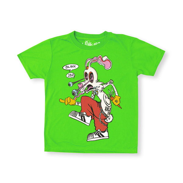 Kid's Skankin Rabbit Green Tee