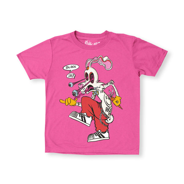 KID'S SKANKIN' RABBIT PINK TEE