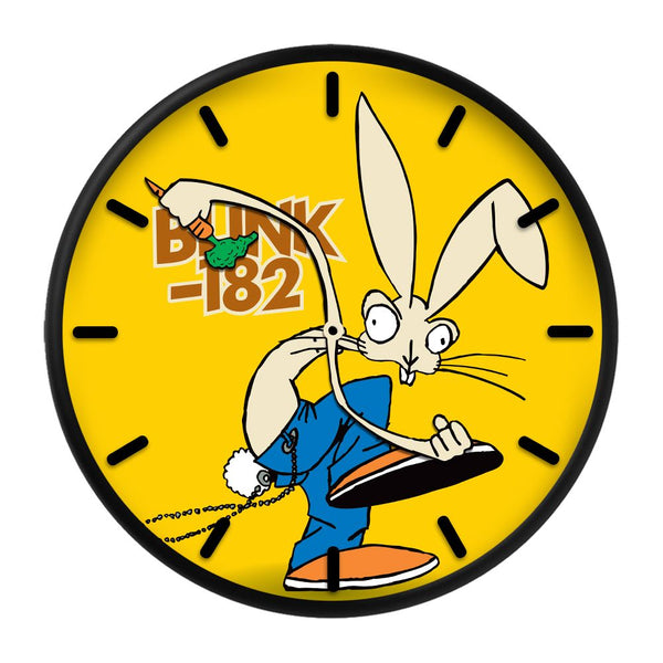 SKANKIN RABBIT YELLOW WALL CLOCK
