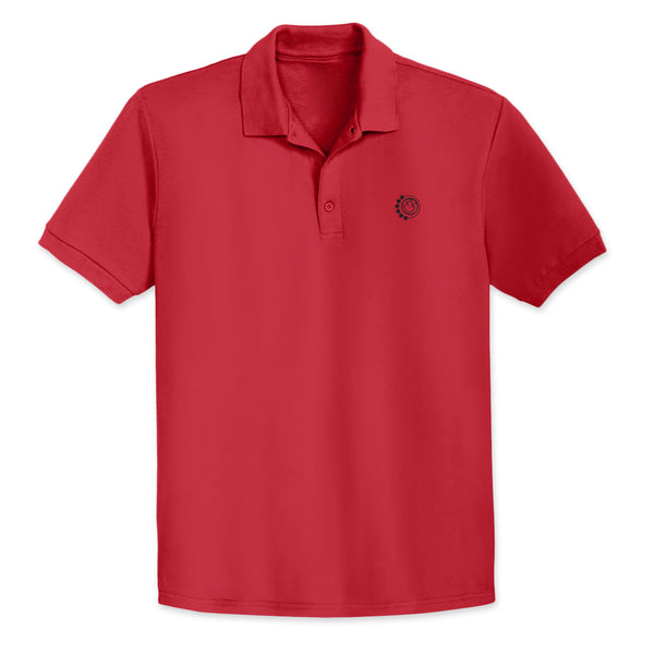 DARKSIDE ARROW SMILEY RED POLO SHIRT