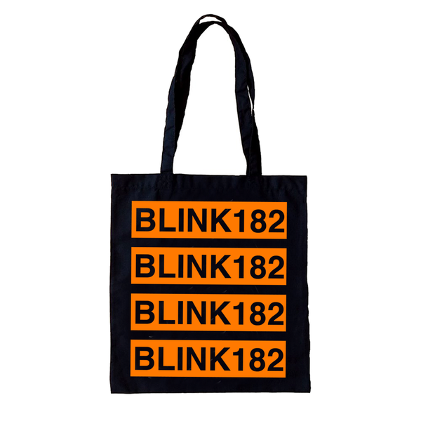 Blink Repeat Logo Black Tote Bag (GUSSETED)