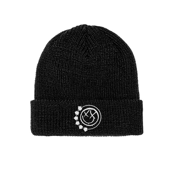 SMILEY LOGO BLACK BEANIE