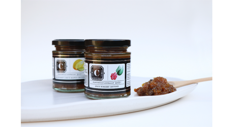 CC Spicy Riberry Chutney and Rainforest Lime & Mango Chutney (210g)