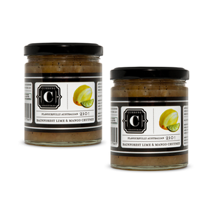 Rainforest Lime & Mango Chutney Duo