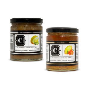 Rainforest Lime & Kumquat Marmalade + Rainforest Lime & Mango Chutney Duo