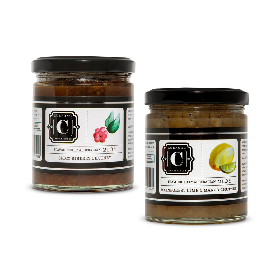Spicy Riberry Chutney + Rainforest Lime & Mango Chutney Duo