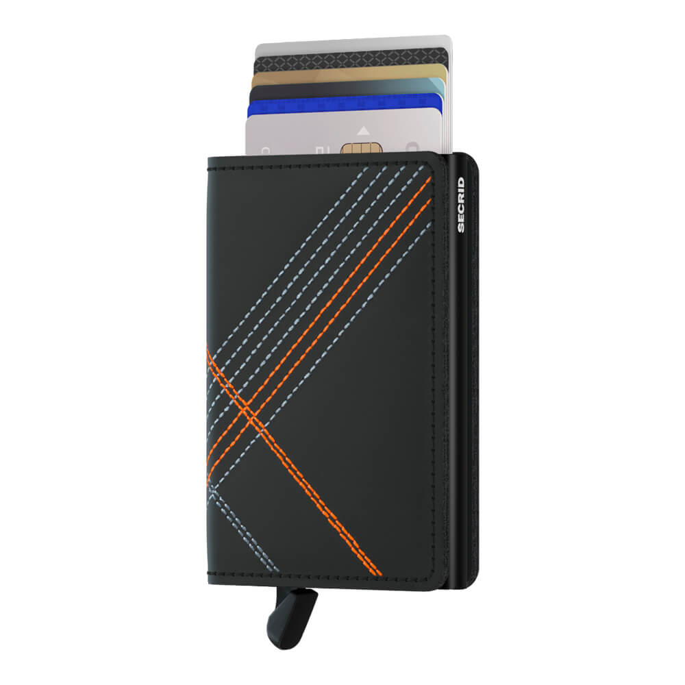 Secrid Slimwallet Stitch Linea Orange