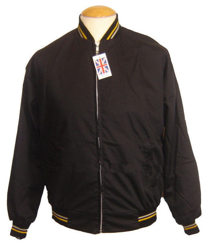 Monkey Jacket Black Vintage Bomber Design - Relco