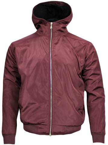 Polar Quilted Splash Proof Hooded Jacket Maroon - Real Hoxton